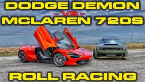 Insane Dodge Demon vs McLaren 720S! Guess who wins!