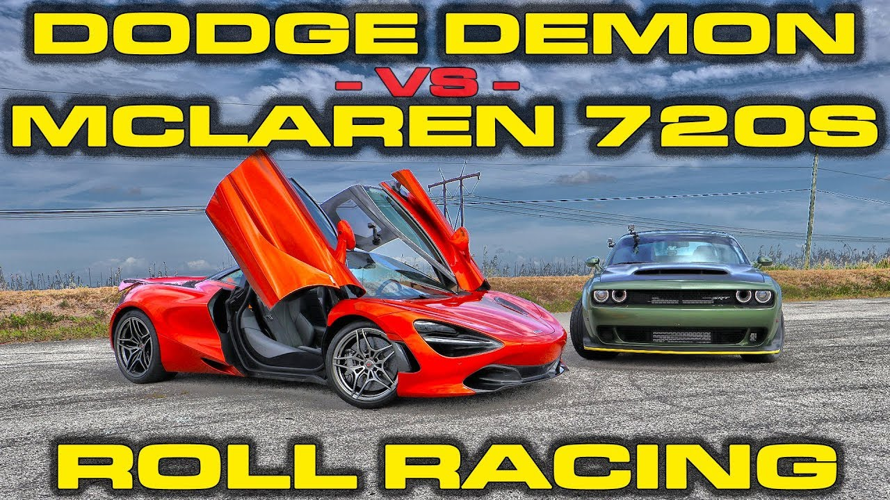 Insane Dodge Demon vs McLaren 720S! Guess who wins!
