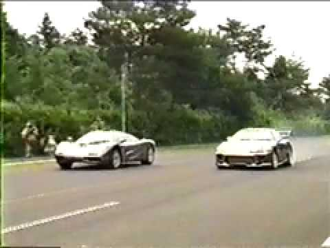 Old School Series Toyota Supra Vs Mclaren F1 Drag Race