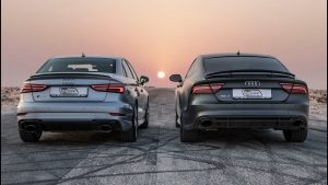 DRAGRACE: AUDI RS3 SEDAN vs AUDI RS7 PERFORMANCE – Who's the Audi RS king?