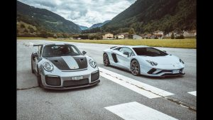 There you go: DRAG RACE! Porsche GT2 RS vs Lamborghini Aventador S!