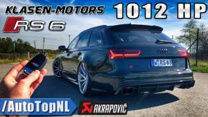 1012HP AUDI RS6 330km/h on AUTOBAHN
