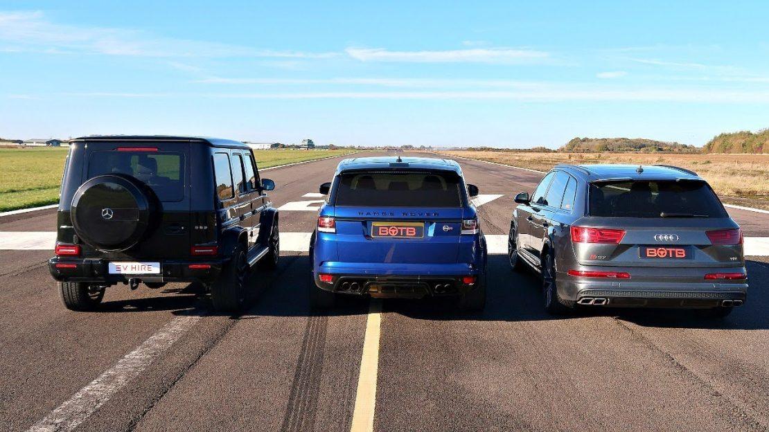 Drag Race Range Rover Svr Vs Audi Sq7 Vs Mercedes G63 Amg