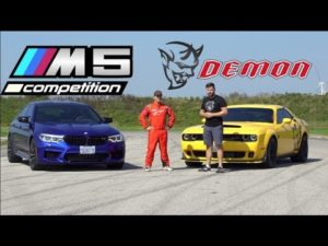 2019 BMW M5 Competition vs Dodge Demon